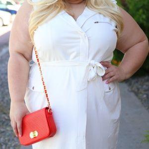 Dresses - Off white wrap dress
